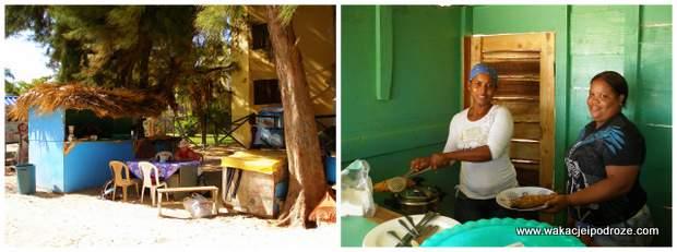 Jedzenie w lokalnych barach Dominikana
