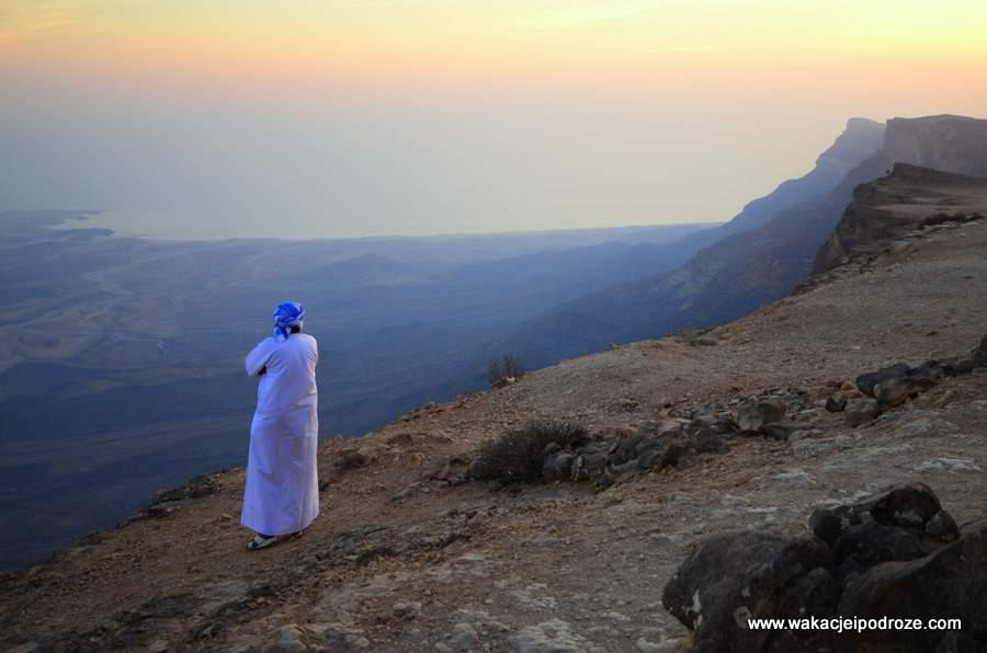 Oman na punkcie widokowym