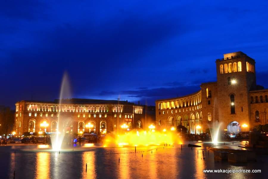 Erywań  co zwiedzać w Erywaniu - Plac Republiki