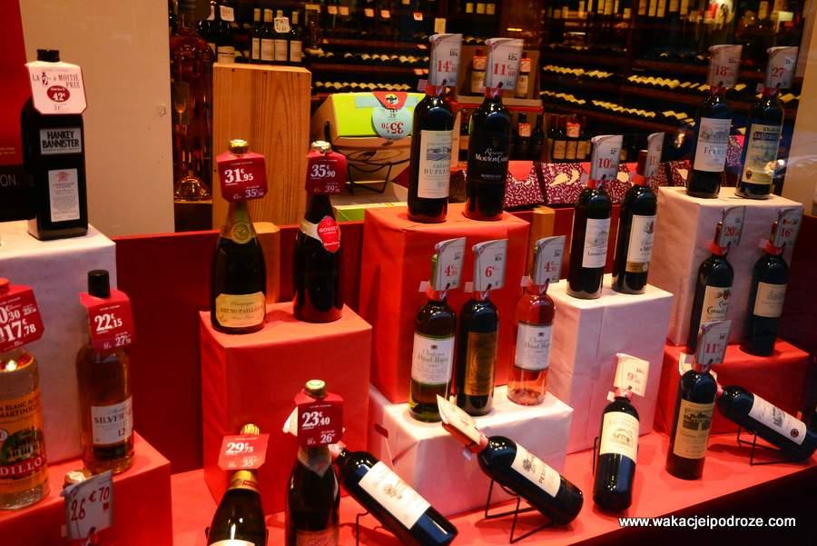 Ceny w Paryżu - wina